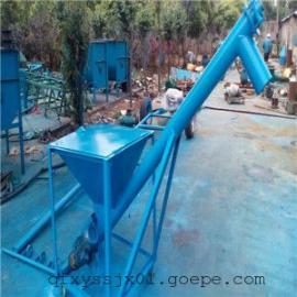 面粉加工厂配套螺旋送料机 倾斜式水泥上料机 垂直绞龙型号