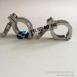 bu锈gang卫生级卡箍,卫生级kuai装jietou,水处理卡箍