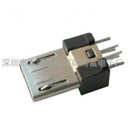 MK/MICRO/麦口 5P 焊线式公头(白色PBT+LCP灰色+红色)