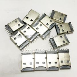 新品USB AM公�^+TF卡座一�w式供��(似U�P沉板4P)