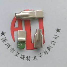 USB3.1 type-C 公�^(一�w式+PCB板)拉伸款