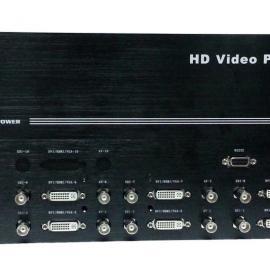 八画面DVI/VGA/HDMI/SDI/AV分割器/合成器/分屏器/切割器