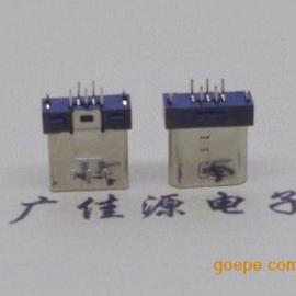 micro usb5p公头 超薄/超短体B型口 高度7.85端子1.3尺寸