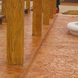 水泥压膜地坪 彩色压膜地面 水泥压膜地面