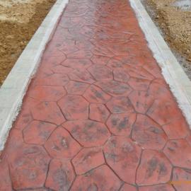 艺术压印路面 混凝土压印地坪 混凝土压印路面