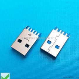 USB 3.0公头一体式-焊线3.0A公(短体)