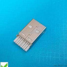 USB连接器 A公2.0焊线式(短体USB公头+加长焊盘)