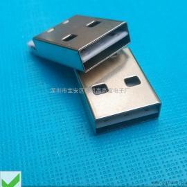 短体USB A公双面插(两面都可以插的USB 公头焊线式)