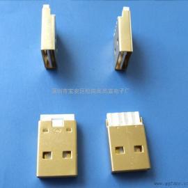 USB 2.0 A公~双面插公头~焊线式镀金插头(PDF)