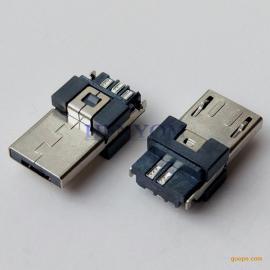 MICRO 5P公头AB型 方形双面焊线式 加高5.0