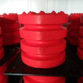 聚氨酯缓冲器JHQ-C-10防撞器红色撞头起重机行车电梯用