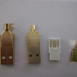 USB焊线式~三件套(镀金)AM公头线端