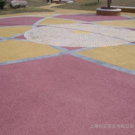 彩色透水混凝土 透水路面 透水地坪