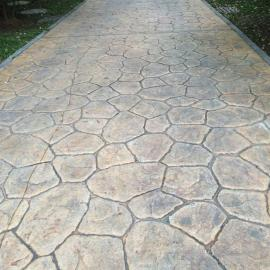 压花水泥地面 压花混凝土 彩色混凝土