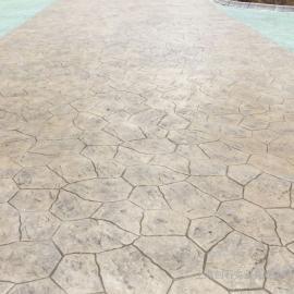 彩色水泥压花混凝土压模混凝土压花地坪