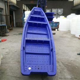 厂家直销新款4米5米塑料渔船双层渔船河道清理船