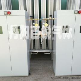 氢气带气瓶柜汇流排现场安装实物照