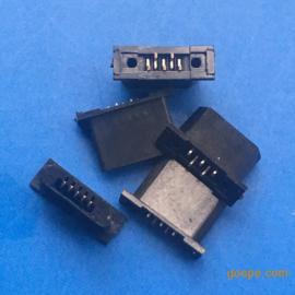 全塑/MICRO USB 5P无线充公头/B型短体黑色胶芯