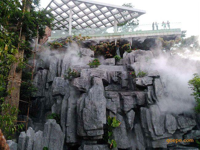 贝克假山人造雾系统