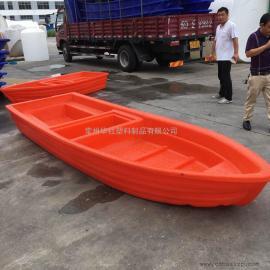 昆山4米塑料船河道清理船双层塑料船运输船厂家