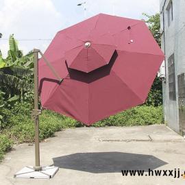 户外庭院伞 酒店餐饮伞 泳池海边伞 别墅花园伞 露台伞 旋转带灯�
