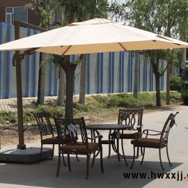 户外休闲偏转大罗马伞 旋转伞 灯光伞 户外遮阳伞 庭院伞