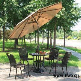 户外遮阳伞 餐饮酒店伞 庭院别墅伞 海边伞 手摇灯光中柱伞