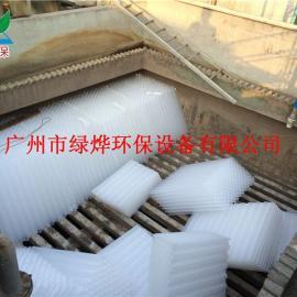供应蜂窝斜管填料 六角型蜂窝斜管填料 占地面积小 无毒无味