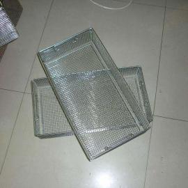 带盖包角电焊网消毒筐 不锈钢清洗筐 器械网筐网篮
