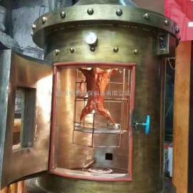商用大号木炭烤全羊炉子自动翻转烤羊炉无烟全羊羊腿羊排蒙古烤全