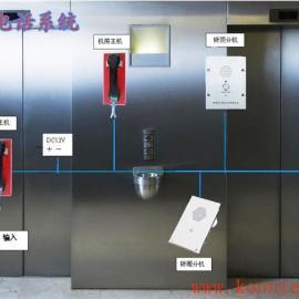 昆仑三方五方对讲系统 电梯专用电话机 电梯紧急呼叫按钮