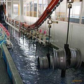 汽车铝轮毂电泳生产线 电泳喷淋槽 阴极电泳槽 电泳设备厂家
