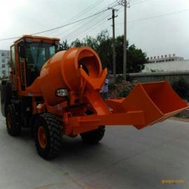 装载机改装混凝土搅拌车 自上料移动式混凝土搅拌车