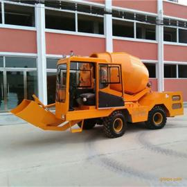 自动装载移动式混凝土搅拌车 自上料/自卸料混凝土搅拌站