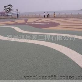 地坪透水施工|彩色透水混凝土�;ぜ�|喷涂罩面漆防滑渗水路面