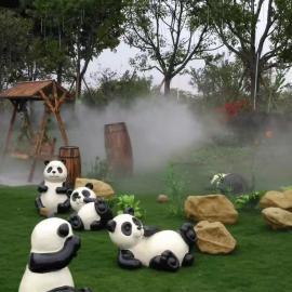 游乐园喷雾造景