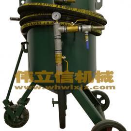 汉川手动小型移动式化工除锈防腐喷砂机