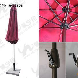 户外遮阳伞 中柱伞 庭院伞 餐饮酒店外摆遮阳伞