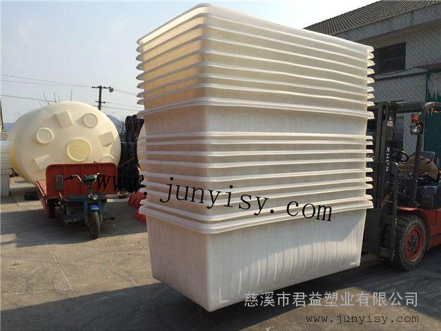 厂家供应1400L纺织印染推布车pe塑料方箱