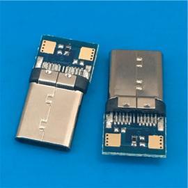 USB 3.1带板C TYPE公头焊线式 带PCB板 快充