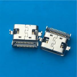 双排贴片USB 沉板3.1母座 沉板0.8mm贴板SMT