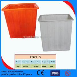 300L塑料方箱 周�D箱 塑料方桶