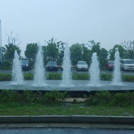 树冰 雪松 入口处水景 厂区入口水景 广场水景