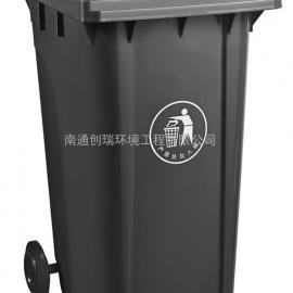 启东社区240升加厚挂车垃圾桶-启东240升全新料塑料垃圾桶