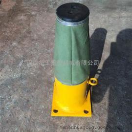 HYG400-100双梁行车液压缓冲器 中部法兰盘式液压碰头 非标定做
