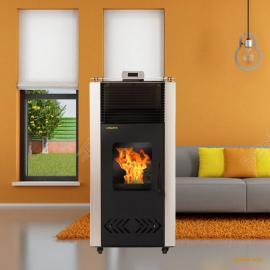 炉派颗粒壁炉家用 生物质颗粒取暖炉 真火壁炉