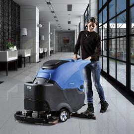 容恩全自动洗地机,双刷自走式洗地机R70BT,工厂车间用拖地机