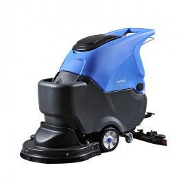 超市地面清洗机 手推电动洗地机刷地机全自动洗地吸干机