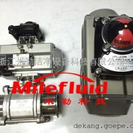 Q681F气动三片式球阀