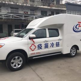 适用于山区的江淮皮卡冷藏车可乘5人